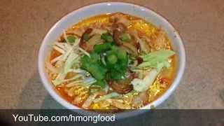 getlinkyoutube.com-How to make Khaub Poob - Kao poon, Kapoon, Kapong