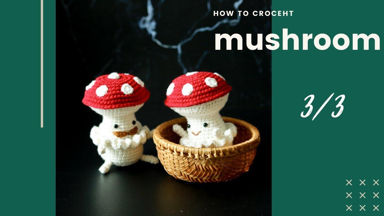 Crochet tutorial: Amigurumi Mushroom couple love (P3)
