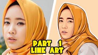 Part #1 LINE ART | Vector Vexel Portrait Tutorial