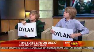 getlinkyoutube.com-Dylan & Cole Sprouse on Good Morning America - 2008.