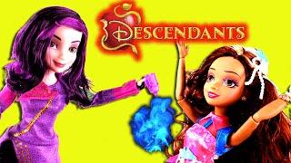 getlinkyoutube.com-Disney Descendants Spell! with Frozen Elsa Anna Mal Evie Audrey Ben Carlos Maleficent Dolls