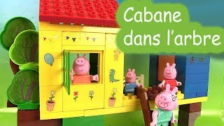 getlinkyoutube.com-Peppa Pig Cabane dans l'arbre Jeu de Contruction Jouets Treehouse Blocks