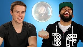 getlinkyoutube.com-Men Feel Breast Implants For The First Time