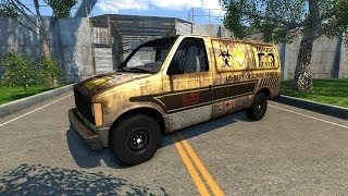 getlinkyoutube.com-BeamNG Drive Zombie Response Team Van Crash Testing #36