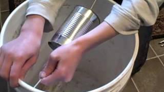 getlinkyoutube.com-Making a 5 gal. bucket mouse trap.