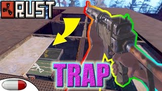 getlinkyoutube.com-Rust ▶ IMPROVISED TRAP BASE   Trapping COUNTER RAIDERS for LOOT   Rust Duo Raid   Epic PvP (vanilla)