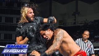 getlinkyoutube.com-Jey Uso vs. Seth Rollins: SmackDown, July 12, 2013