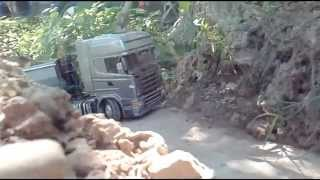getlinkyoutube.com-Scania Top Line + Fliegl tipper RC Tamiya