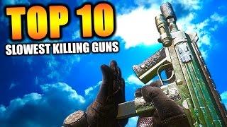 "getlinkyoutube.com-Top 10 ""SLOWEST KILLING GUNS"" in COD HISTORY (Top Ten) Call of Duty"