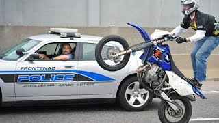 getlinkyoutube.com-Motorcycle Stunters VS. Cops Compilation - FNF