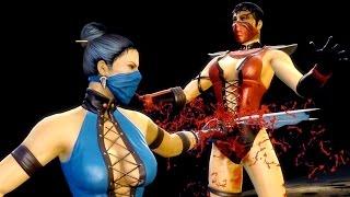 getlinkyoutube.com-Mortal Kombat 9 - All Fatalities & X-Rays on Skarlet MK3 Costume Skin Mod 4K Ultra HD Gameplay Mods
