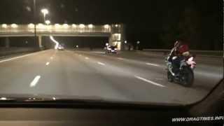getlinkyoutube.com-Audi RS6 Evotech vs Yamaha R6