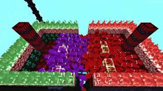 getlinkyoutube.com-COMBATES| GOLEM ROJO VS GOLEM MORADO | AbyssalCraft Mod