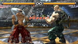 getlinkyoutube.com-Tekken 5 - Heihachi Mishima - Story Mode - Ultra Hard - PCSX2 1.2.1