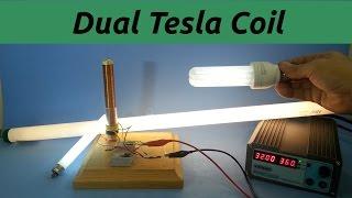 getlinkyoutube.com-Dual Primary Tesla Coil