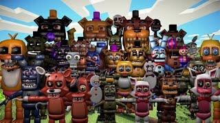 getlinkyoutube.com-Minecraft | Five Nights at Freddy's World Mod Showcase! (FNAF WORLD ROLEPLAY MOD)