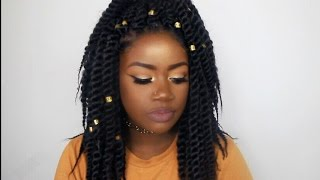 getlinkyoutube.com-Summer Hair Series #2: Jumbo Havana Mambo Twist (Crochet)