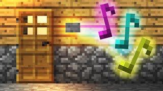 getlinkyoutube.com-How To Build a Simple Doorbell! - Minecraft Tutorial