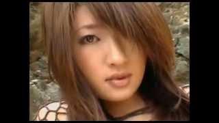 Sexy japanese girl on the beach