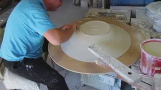 getlinkyoutube.com-Bill Powell throws and trims an 80 cm. Stoneware Platter