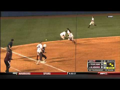 05/08/2013 Texas A&M vs Alabama Softball Highlights
