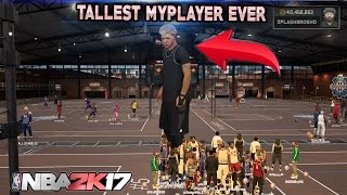 TALLEST PLAYER IN 2K OVERPOWERED ! NBA 2K17 BEST POSITION EVER DIDNT KNOW THIS ! NBA2K17 MYPARK