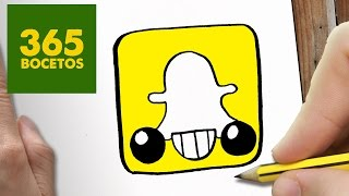 getlinkyoutube.com-COMO DIBUJAR LOGO SNAPCHAT KAWAII PASO A PASO - Dibujos kawaii faciles - How to draw a Logo Snapchat