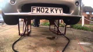 getlinkyoutube.com-Homemade hydraulic car ramp lift tvr