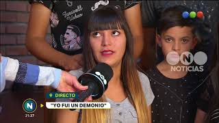 Yo fui un demonio: entrevista con Melany y su familia - Telefe Noticias