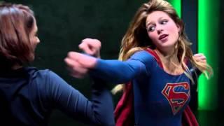 getlinkyoutube.com-Supergirl Fight Practice under Kryptonite Emitter (CBS TV) Melissa Benoist Scene 1