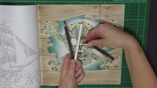 Colouring Tutorial:Easy Timber Background for Lost Ocean.