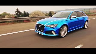 getlinkyoutube.com-WrapStyle™ - Blue Chrome Audi RS6 Joker / Car Wrapping
