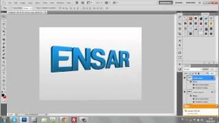 getlinkyoutube.com-Photoshop Dersleri / Photoshopta 3D Yazı Yazma / Ensar Web Tasarım
