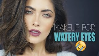 "getlinkyoutube.com-""GRWM"" Makeup for Watery Eyes 