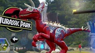 getlinkyoutube.com-LEGO Jurassic World - Jurassic Park Hub 100% Guide #1 - Brachiosaurus Plains & Raptor Territory