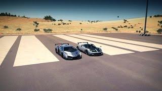 Lamborghini VENENO vs Pagani HUAYRA BC Drag Race | Forza Horizon 3