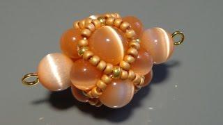 getlinkyoutube.com-Видеоурок: Декоративный элемент из бусин и бисера