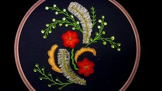 getlinkyoutube.com-Hand Embroidery: Fancy Flower Embroidery
