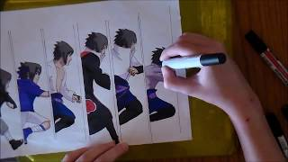 getlinkyoutube.com-SPEED DRAWING : Sasuke Uchiha 【Naruto】