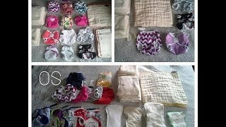 getlinkyoutube.com-Newborn and One Size Cloth Diaper Stash