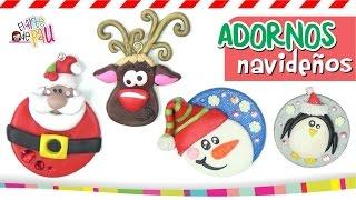 getlinkyoutube.com-Polymer Clay Christmas Ornaments / ESFERAS DE NAVIDAD