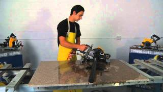 getlinkyoutube.com-How To Cut a Perfect Circle in Granite - AccuGlide PRO Stone Saw in Action!