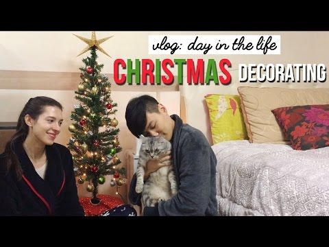 DAY IN THE LIFE | Seoul Apartment Christmas Decorating 국제커플의 크리스마스 트리와 장식으로 집 꾸미기 (자막 CC)