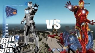 getlinkyoutube.com-GTA IV Iron Man Mod - Iron Man vs Iron Man!