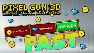 getlinkyoutube.com-Pixel Gun 3D - How to get Fast Coins, Gems and XP! [After 10.5.0]