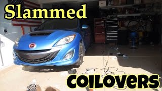 getlinkyoutube.com-Installing the Raceland Coilovers On The Speed 3
