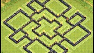 getlinkyoutube.com-Clash of Clans- TOWNHALL 9 + 4 Mortars Farming Base Speedbuild ll End November Edition