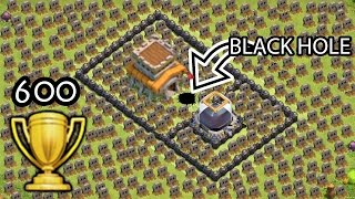 "getlinkyoutube.com-Clash of Clans ""Black Hole TROLL BASE"" + 600 Cups Won in 3 days COC Funny Moments Defense Replays"