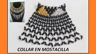 getlinkyoutube.com-COLLAR EN MOSTACILLA//chaquira, pulseras, aretes