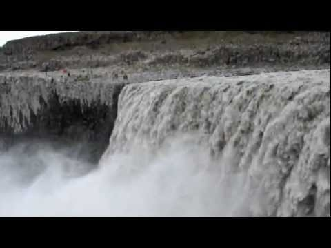 Dettifoss North East Iceland - Video taken from the West Bank.